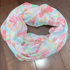 Accessories - Infinity scarf -light floral print - think spring